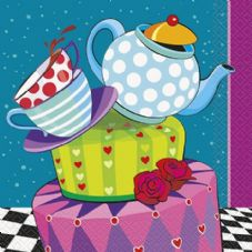 16 Mad Hatter Tea Party Paper Napkins